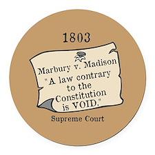 Marbury v. Madison Round Car Magnet