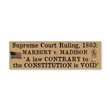 Marbury v. Madison Car Magnet 10 x 3