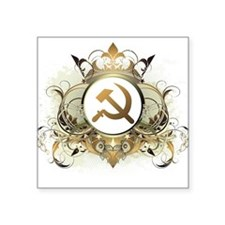 "Stylish Soviet Square Sticker 3"" x 3"""