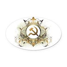 Stylish Soviet Oval Car Magnet