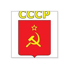 "CCCP Square Sticker 3"" x 3"""