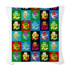 Pop Art Karl Marx Woven Throw Pillow