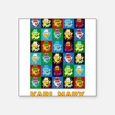 """Pop Art Karl Marx Square Sticker 3"""" x 3"""""""