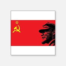"""Lenin Soviet Flag Square Sticker 3"""" x 3"""""""
