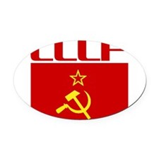 Cool CCCP Oval Car Magnet