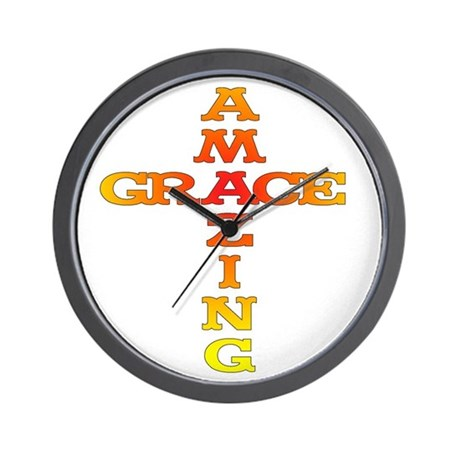 Amazing Grace Wall Clock By Amazingracross