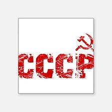 "Vintage CCCP Square Sticker 3"" x 3"""