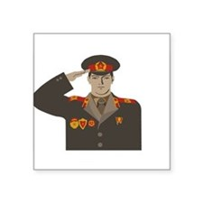 "Soviet Soldier Square Sticker 3"" x 3"""