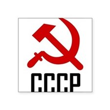 "CCCP Square Sticker 3"" x 3"""