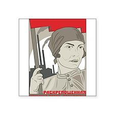 "Soviet Square Sticker 3"" x 3"""