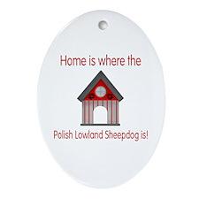 Home...Polish Lowland Sheepdog is Oval Ornament
