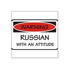 "Unique Russian Square Sticker 3"" x 3"""