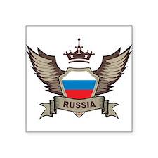 "Russia Emblem Square Sticker 3"" x 3"""