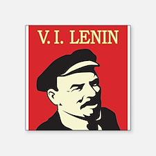 "Lenin Square Sticker 3"" x 3"""