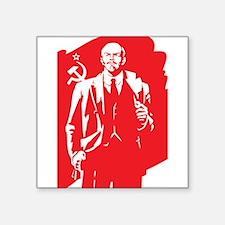 "Vintage Lenin Square Sticker 3"" x 3"""