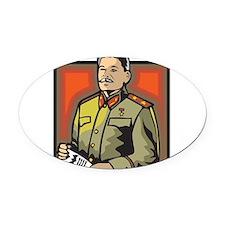 Stalin Oval Car Magnet