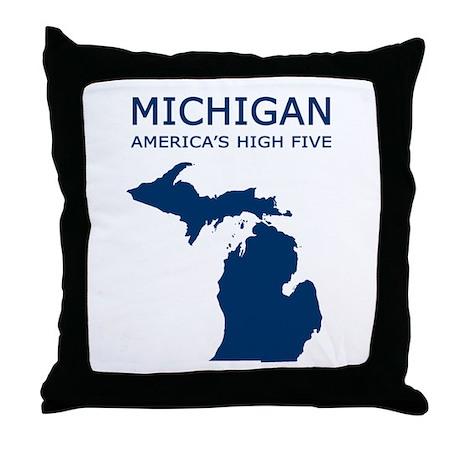 MI_high5.jpg Throw Pillow