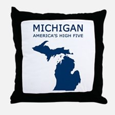 MI_high5.jpg Throw Pillow