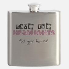 Save the headlights Feel the boobies Flask