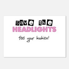 Save the headlights Feel the boobies Postcards (Pa