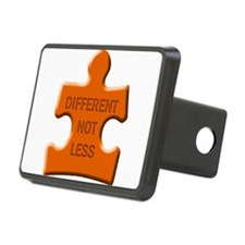 Different Not Less Autism Puzzle Piece Hitch Cover
