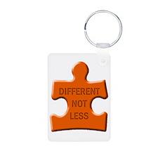 Different Not Less Autism Puzzle Piece Keychains