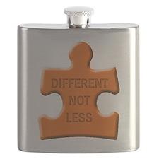 Different Not Less Autism Puzzle Piece Flask
