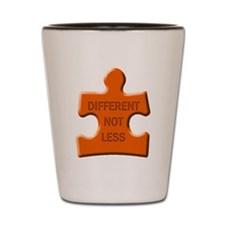 Different Not Less Autism Puzzle Piece Shot Glass