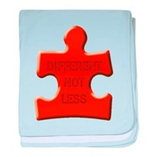 Different Not Less Autism Puzzle Piece baby blanke