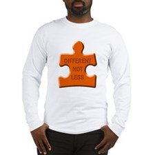Different Not Less Autism Puzzle Piece Long Sleeve