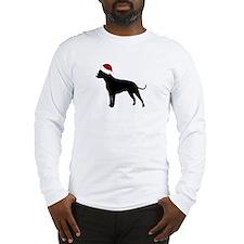 """Pit Bull """"Santa Hat"""" Long Sleeve T-Shirt"""
