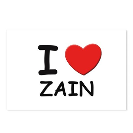 I love Zain Postcards (Package of 8)