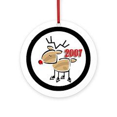 2007 Reindeer Ornament (Round)