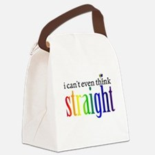 i can't even think straight Canvas Lunch Bag