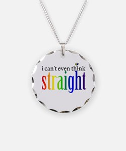 i can't even think straight Necklace