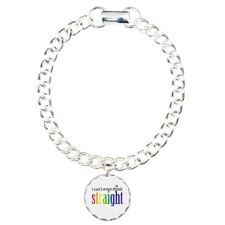 i can't even think straight Charm Bracelet, One Ch
