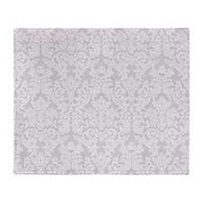 lace pattern - gray Throw Blanket