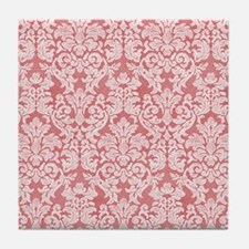 lace pattern - red Tile Coaster