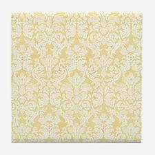 lace pattern - yellow Tile Coaster