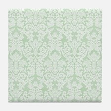 lace pattern - mint Tile Coaster