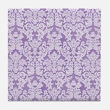lace pattern - purple Tile Coaster
