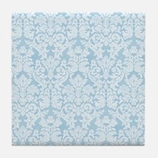 lace pattern - blue Tile Coaster