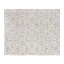 lace pattern - beige linen Throw Blanket