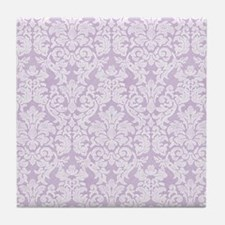 lace pattern - lavendar Tile Coaster