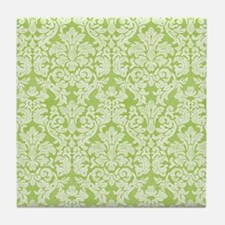 lace pattern - green Tile Coaster