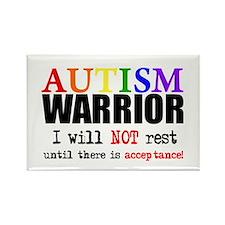 Autism Warrior Rectangle Magnet