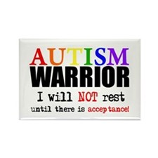 Autism Warrior Rectangle Magnet (10 pack)