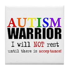 Autism Warrior Tile Coaster