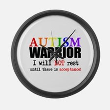 Autism Warrior Large Wall Clock