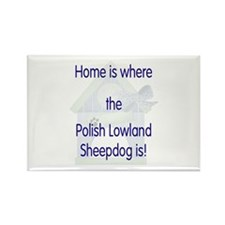 Home...Polish Lowland Sheepdog is Rectangle Magnet